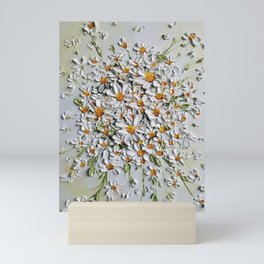 Daisy Explosion, Daisies layered on top of each other in 3d effect Mini Art Print