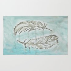 Feathers and memories Rug