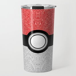 Sparkly red and silver sparkles poke ball Travel Mug