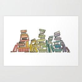 Rainbow of Books Art Print