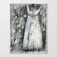 dress Canvas Prints featuring dress by woman