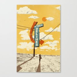 THE DELINES - Official Merch Poster Canvas Print
