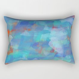 Paint Strokes Two Rectangular Pillow