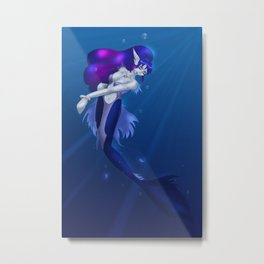 Navy Blue Metal Print