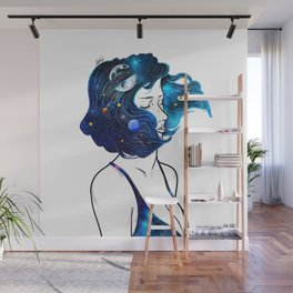 blowing  universe mind. Wall Mural