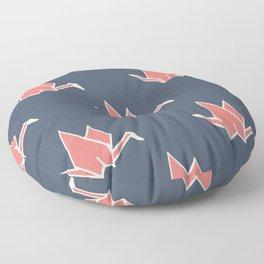 Petite Origami Cranes Floor Pillow