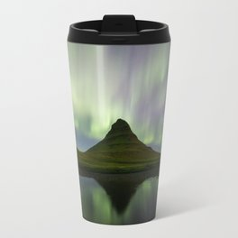 Aurora over Kirkjufell Travel Mug