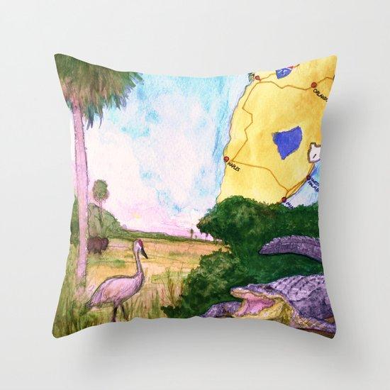 """Gainesville, FL"" by Cap Blackard Throw Pillow"