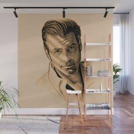George Clooney Wall Mural
