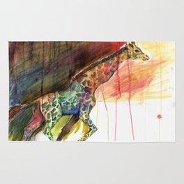 Galloping Giraffe Rug