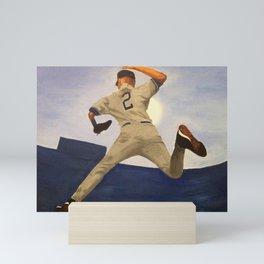 𝓜𝓛𝓑 - Society6 - New York - Hall Of Fame - Baseball - Derek Sanderson 𝕵𝖊𝖙𝖊𝖗 - 2 - A434 Mini Art Print