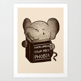 Elephant Overcoming Your Mice Phobia Art Print