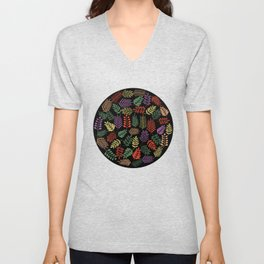 Colorful branches 2 Unisex V-Neck