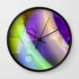 Abstract Geometric Rainbow Wall Clock