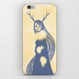 Lady Blue iPhone Skin