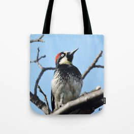 Woodpecker Lookup Tote Bag