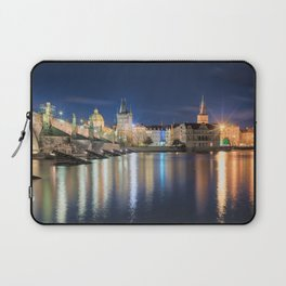 Charle's Bridge at Night Laptop Sleeve