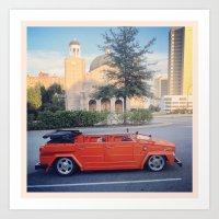 volkswagen Art Prints featuring Volkswagen Thing by Firebird Man