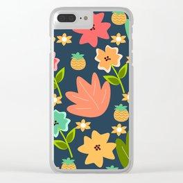 summer print Clear iPhone Case