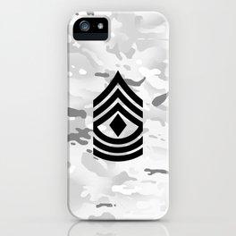 1st Sergeant (Winter Camo) iPhone Case