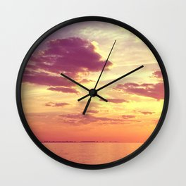 70'S ACIDIC SUNRISE Wall Clock
