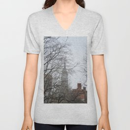 View of the Empire State Building | NYC Travel Photography Unisex V-Neck