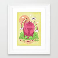 all you need is love Framed Art Prints featuring All you need is love by Randyotter