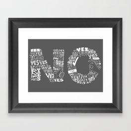 Mixed Messages Framed Art Print
