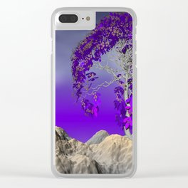 tree and violet horizon Clear iPhone Case