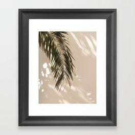 tropical palm leaves vi Framed Art Print