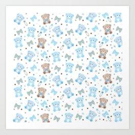 Blue Bears Art Print
