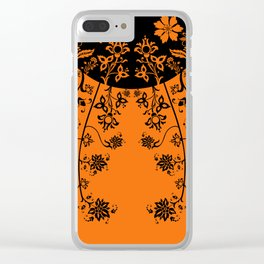 floral ornaments pattern wbi Clear iPhone Case