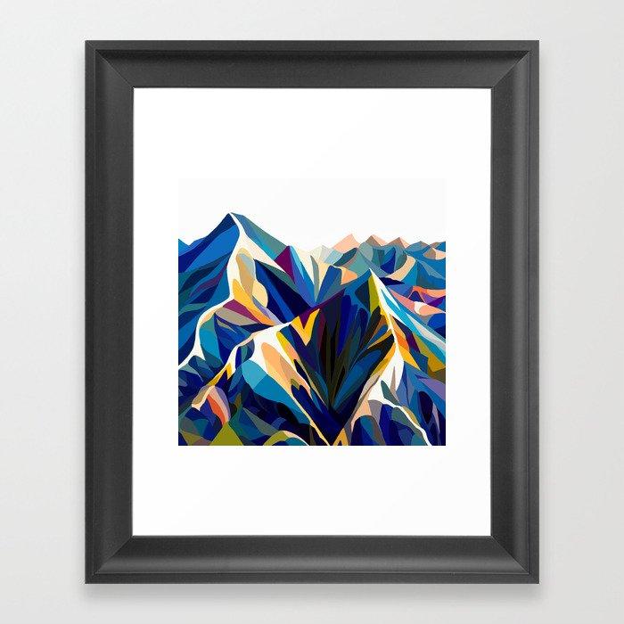 Mountains cold Gerahmter Kunstdruck