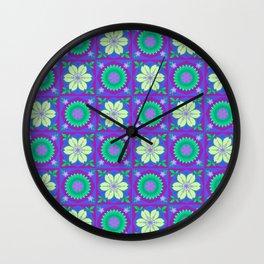 Japanese Blossom - Purple Wall Clock
