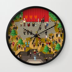 Super Twin Peaks Wall Clock