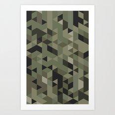 Isometric Camo Art Print