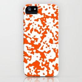 Spots - White and Dark Orange iPhone Case