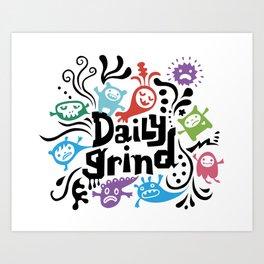 Daily Grind - white Art Print
