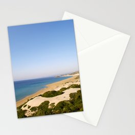 Golden Beach in Cyprus Stationery Cards