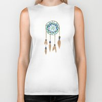 dream catcher Biker Tanks featuring Dream Catcher by Kayla Gordon