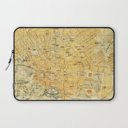 Vintage Map of Athens Greece (1894) Laptop Sleeve