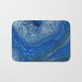 blue agate crystals Bath Mat