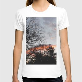 red clouds in the sky T-shirt