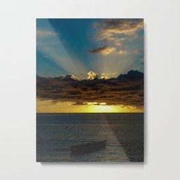 Sunset Soufriere Metal Print