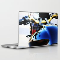 motorcycle Laptop & iPad Skins featuring Motorcycle by Carlo Toffolo