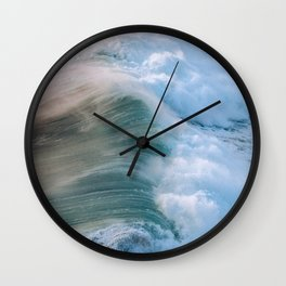 Crashing Wave in the evening Light Wall Clock