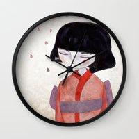 sakura Wall Clocks featuring Sakura by munieca
