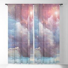 Fantastic evening breeze Sheer Curtain