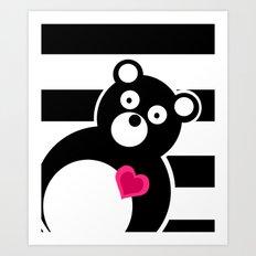 Curiosity killed the Bear Art Print