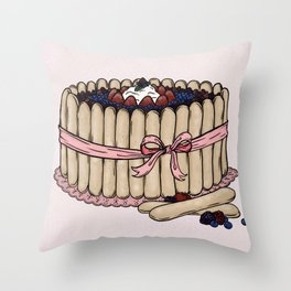 L is for Ladyfinger Throw Pillow